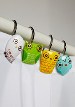 owl shower curtain holder - home decor in style