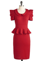 Work with Me Dress in Deep Red