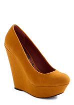 Walk and Roll Wedge in Mustard from ModCloth