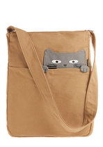 Look What the Cat Bagged In Tote in Buddy from ModCloth