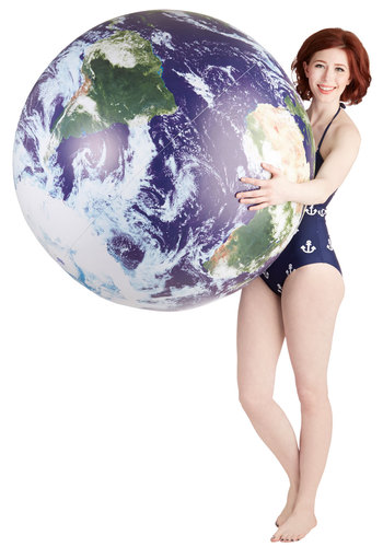 Celestial Perspective Inflatable Globe