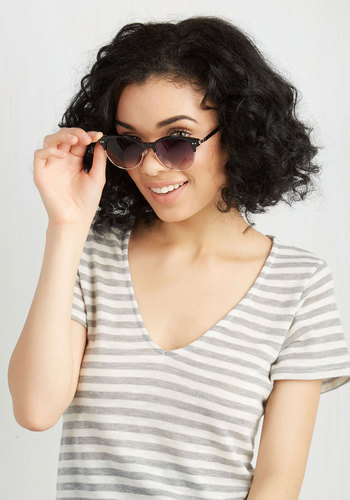 Summertime Staple Sunglasses in Black - Black, Solid, Urban, Mod, Casual, Spring, Work, As You Wish Sale