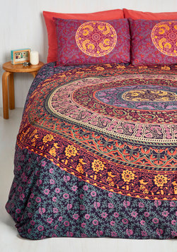 Home & Gifts - Bohemian Bliss Duvet Cover Set in Magenta - Full/Queen