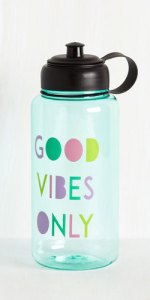 Hydrated and Mighty Water Bottle in Positivity