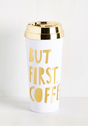 Brews Almighty Travel Mug in White