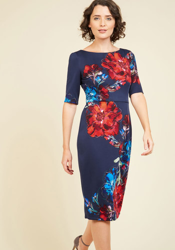 Floral Favor Sheath Dress