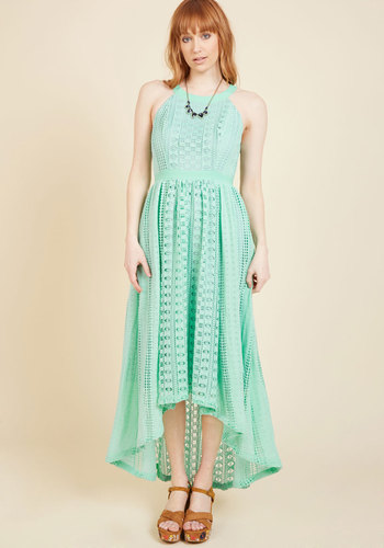 Harmonious Ceremony Maxi Dress in Mint in M