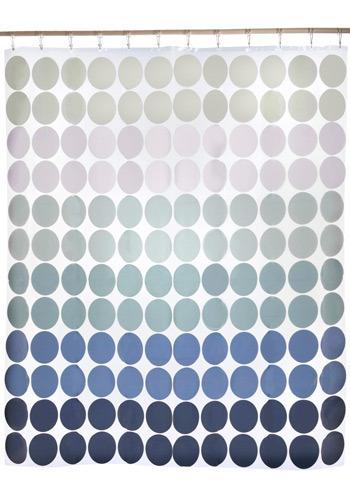 Legendary Blue Dots Shower Curtain
