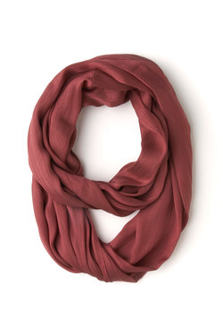 brighten up circle scarf in berry (modcloth)