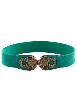 boldly buckled belt in teal (modcloth)