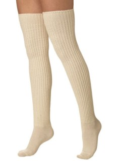 Second Semester Socks in Cream