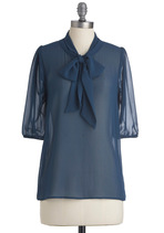 image of Des Colores Top in Sheer Sapphire