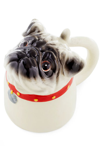 Bottoms Pup Mug - Multi, Red, Tan / Cream, Quirky