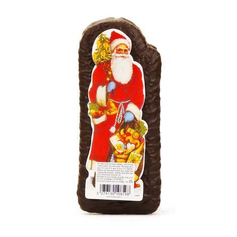 pere noel pain d epices alsacien enrobe de chocolat