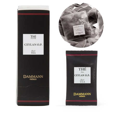 ceylon op black tea in cristal sachets by dammann freres