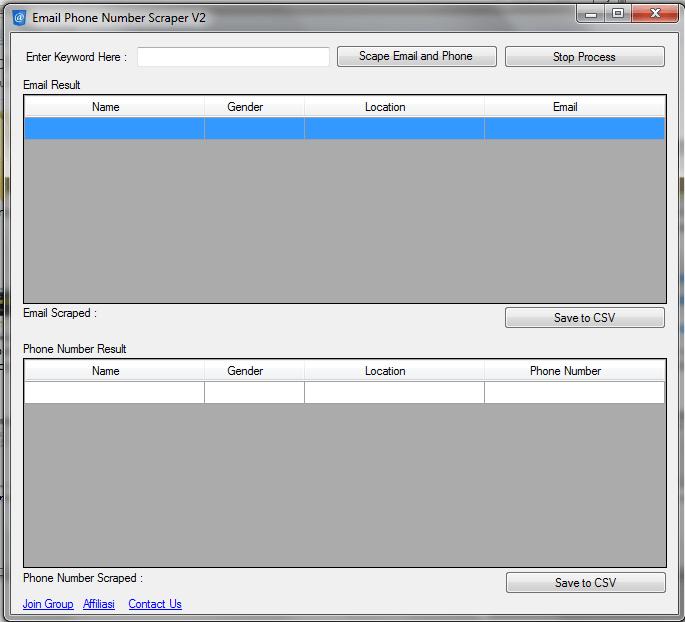 Email & No Telp Scrapper Fb - Sociobot