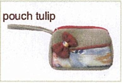 tas kain goni - pouch tulip