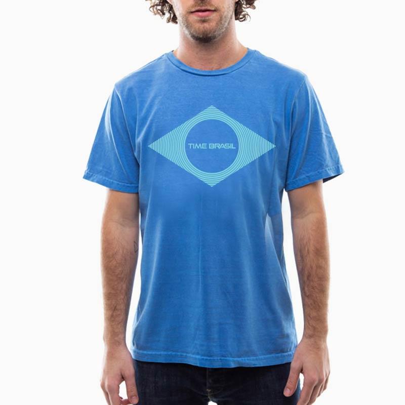 Camiseta-Unisex-Estonada-Azul---100%-algodão----silk-Bandeira-Azul