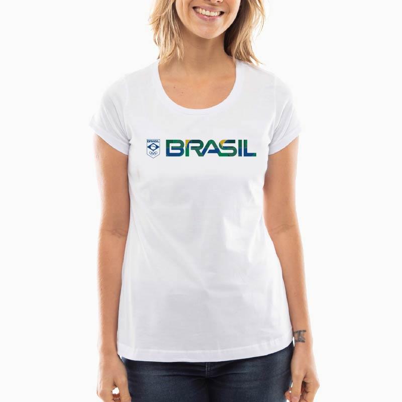 Camiseta-Feminina-Long---Branca---100%-Algodão---Silk-Textura-Brasil