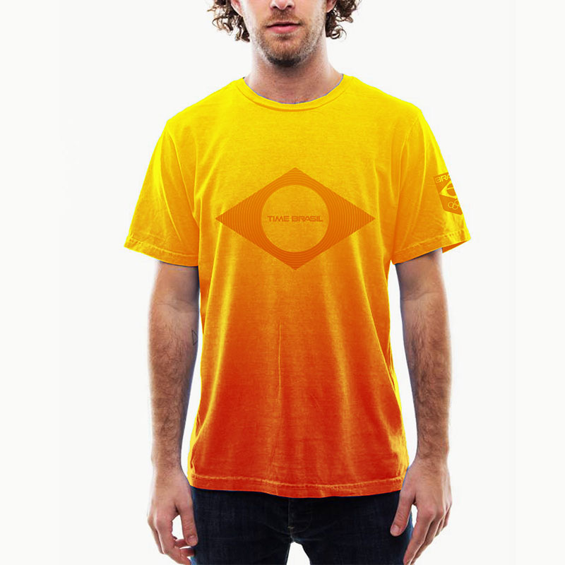 Camiseta-Airbrush-Amarela-Brasil-100%-Algodão---Estonada