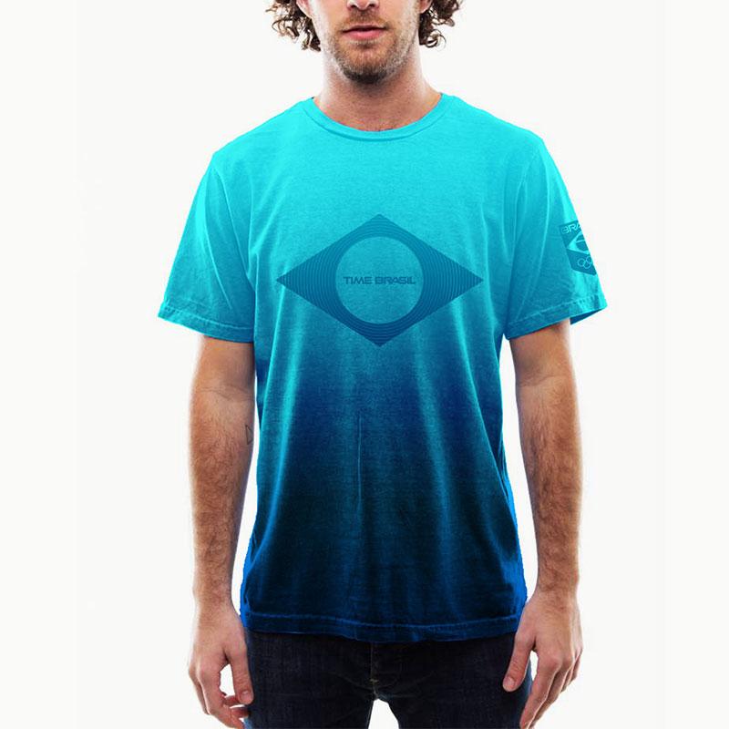 Camiseta-Airbrush-Azul-Brasil-100%-Algodão---Estonada