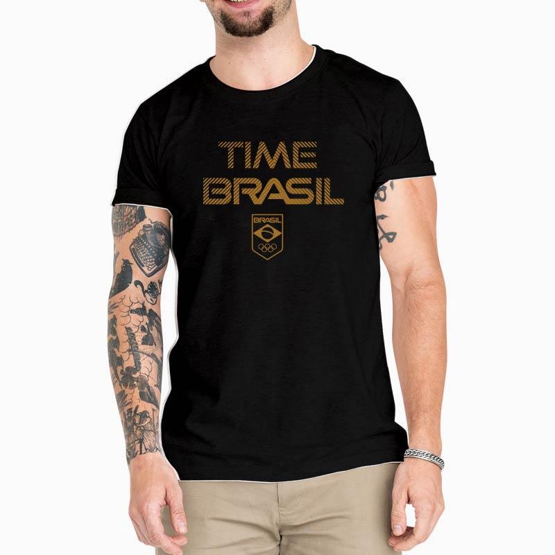 Camiseta-Unissex-Preta---100%-Algodão---Time-Brasil-Bronze