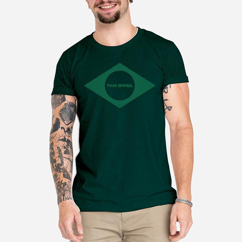 Camiseta-Unissex---100%-algodão---Silk-Bandeira-Monocromática