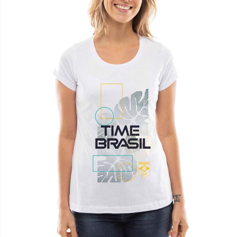 Camiseta-Feminina-Long-Branca---100%-Algodão---Folhas