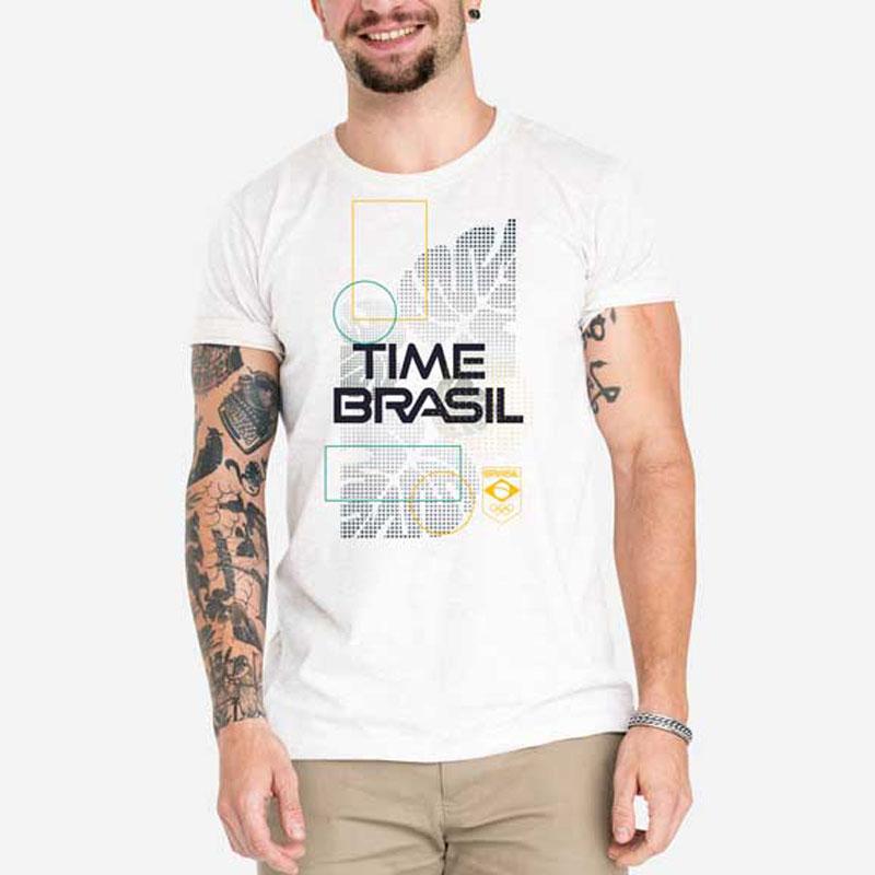 Camiseta-Unissex-Branca---100%-Algodão---Folhas