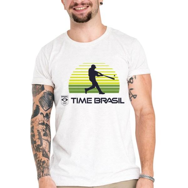Camiseta Unissex Branca - 100% Algodão - Beisebol / Softbol