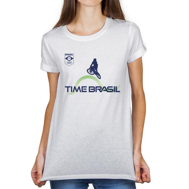 Camiseta Unissex feminina Branca - 100% Algodão - Ciclismo BMX