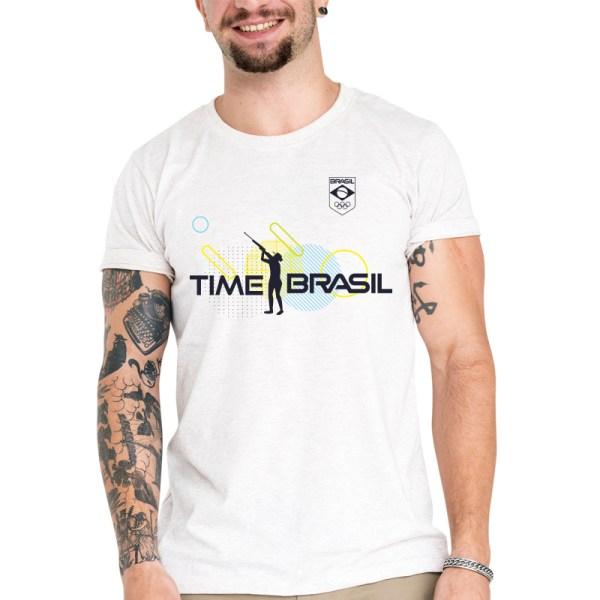 Camiseta Unissex Branca - 100% Algodão - Tiro Esportivo