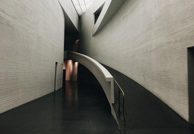 Ramp in an attractive architectural interior representing content design accessibility