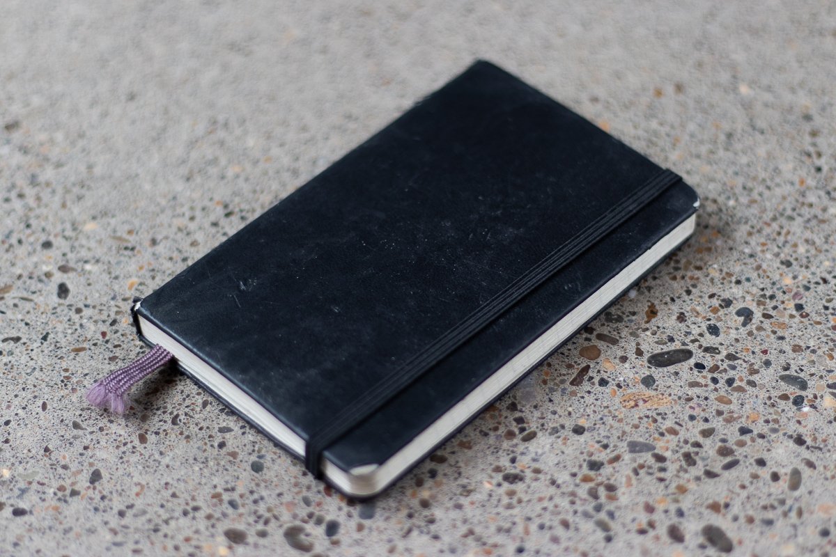 EDC Moleskine Classic Notebook on floor