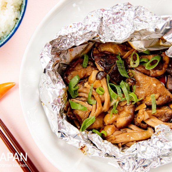 Foto van Japanse paddenstoelpakketjes. Recept op Proef Japan.