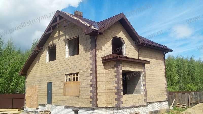 дом из теплоблока, строительство из телоблока, фото дома из телоблока