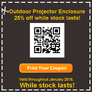 outdoor projector enclosure discount coupon