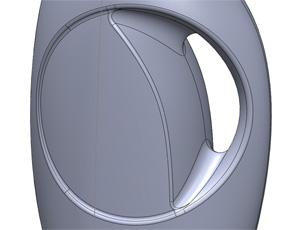 Tide Detergent Bottle Designed using Solidworks surfacing in Chciago