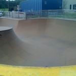 The deep-end of the Bowl at Burton's Burlington Skatepark