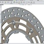 Suzuki Front brake Rotor created in Soldiworks for Design-engine classes