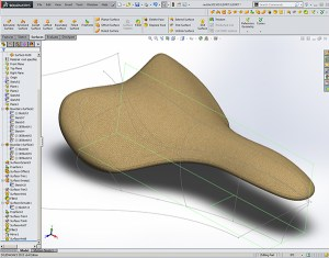 one of 20 Solidworks Surfacing Iterations crated in a 2 hour Design Engine Surfacing exercise
