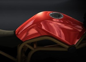 Sportbike Fuel tank Created using Alias Auto