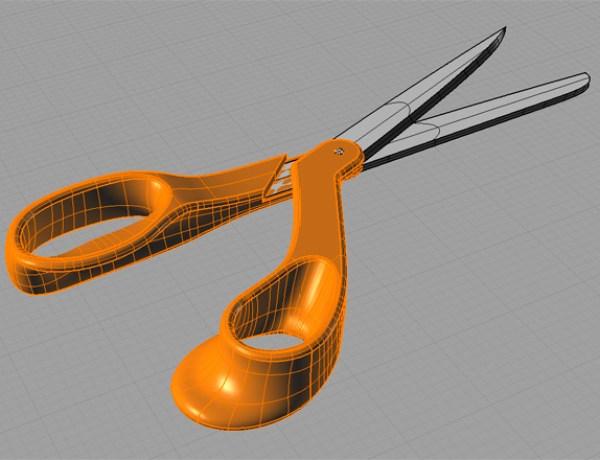 Fiskars Scissors Model in Rhino