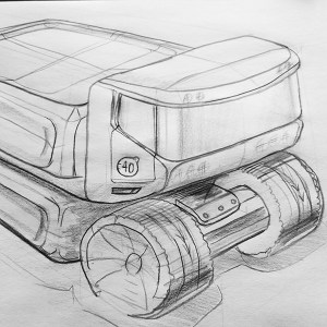 sketch created by an engineer in the second day of sketching training