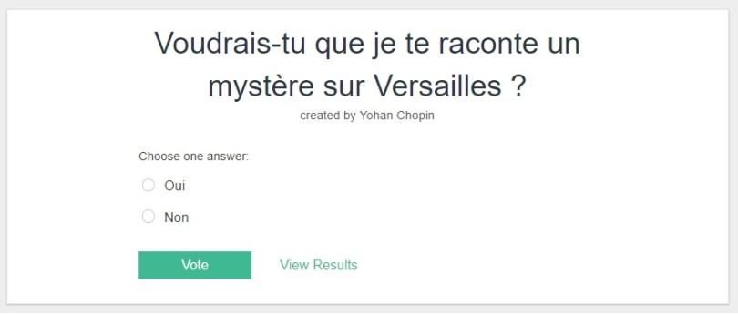 Strawpoll sur Versailles