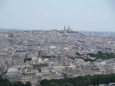 View of Sacre Coeur from Arc de Triomphe
