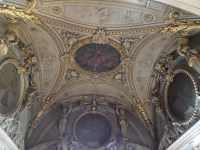 An example of the gorgeous ceilings found within the Louvre.