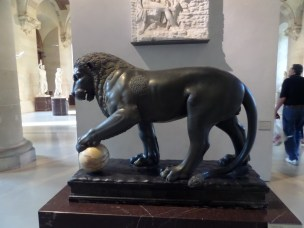 Albani lion with sphere, 1st century AD, Roman, Denon wing.