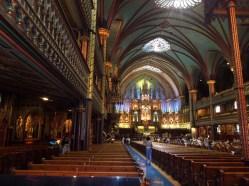 Interior of Notre-Dame Basilica