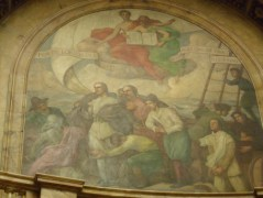Fresco in rotunda of dome of State House